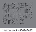 vector tech font. sharp... | Shutterstock .eps vector #334165493
