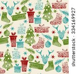 christmas elements and ... | Shutterstock .eps vector #334169927