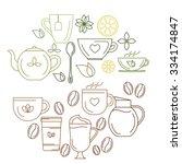 vector illustration. set of... | Shutterstock .eps vector #334174847