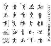 silhouettes figures of athletes ... | Shutterstock . vector #334177787