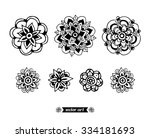 amazing wonderland flower... | Shutterstock .eps vector #334181693