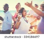 diverse people friends hanging... | Shutterstock . vector #334186697