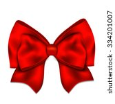 realistic red bow isolated on... | Shutterstock .eps vector #334201007