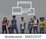 technology digital devices... | Shutterstock . vector #334213727