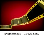 vector film strip 3d  gold  | Shutterstock .eps vector #334215257