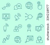 communication icons  thin line... | Shutterstock .eps vector #334218977