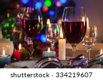 Glass Of Wine On The Christmas...
