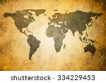 vintage map of the world | Shutterstock . vector #334229453