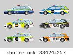 set from six vector cars of... | Shutterstock .eps vector #334245257