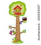 bumper children meter wall.... | Shutterstock .eps vector #334245347