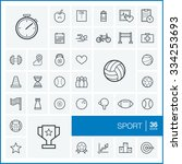 vector thin line icons set and... | Shutterstock .eps vector #334253693