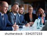 successful businesspeople... | Shutterstock . vector #334257233