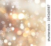 golden christmas background... | Shutterstock . vector #334260587