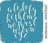 handmade letters. handwritten... | Shutterstock .eps vector #334270187