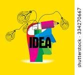 creative idea concept with... | Shutterstock .eps vector #334270667