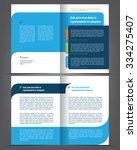 vector empty bi fold brochure...   Shutterstock .eps vector #334275407