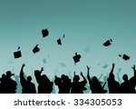 diverse international students... | Shutterstock . vector #334305053