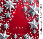 christmas and new years red... | Shutterstock .eps vector #334310393