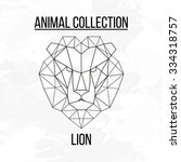 geometric vector animal lion... | Shutterstock .eps vector #334318757