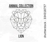 Geometric Vector Animal Lion...