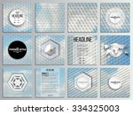 set of 12 creative cards ... | Shutterstock .eps vector #334325003