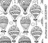 black and white seamless... | Shutterstock .eps vector #334339487