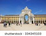 lisbon  portugal   april 22 ...   Shutterstock . vector #334345103