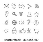 set of basic hand drawn line... | Shutterstock .eps vector #334356707