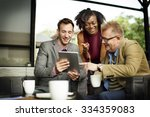 business team coffee shop... | Shutterstock . vector #334359083