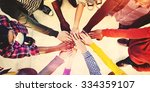 diverse and casual people and... | Shutterstock . vector #334359107