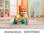 Crawling Baby Boy At Home On...