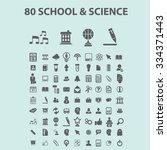 science  education  learning ... | Shutterstock .eps vector #334371443