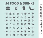 food  drinks  grocery  icons ... | Shutterstock .eps vector #334373117
