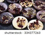 artisan chocolate with... | Shutterstock . vector #334377263