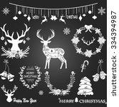 Chalkboard Christmas Merry...