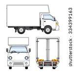vector small truck | Shutterstock .eps vector #334399163