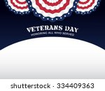 veterans day background with... | Shutterstock .eps vector #334409363