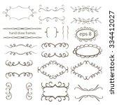 frame set hand draw | Shutterstock .eps vector #334412027