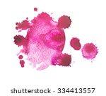 watercolor blot with splashes... | Shutterstock . vector #334413557