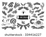set of vector handdrawn... | Shutterstock .eps vector #334416227