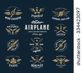 Vintage Vector Airplane Labels...