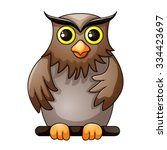 cute owl cartoon | Shutterstock .eps vector #334423697