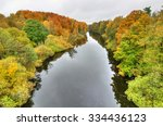 Autumn Aerial Landscape Of...
