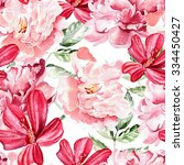 seamless pattern with... | Shutterstock . vector #334450427