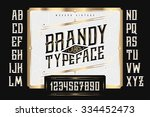 vintage brandy label typeface...