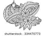 Floral Pattern. Vector Doodle...