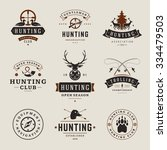 Set Of Hunting And Fishing...