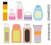 set of bottles for the bath....   Shutterstock .eps vector #334485353