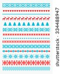 christmas and new year borders. ... | Shutterstock .eps vector #334488947