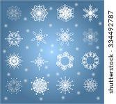 set of snowflakes   Shutterstock . vector #334492787